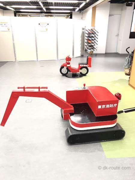 消防博物館6Fの企画展示室スペース