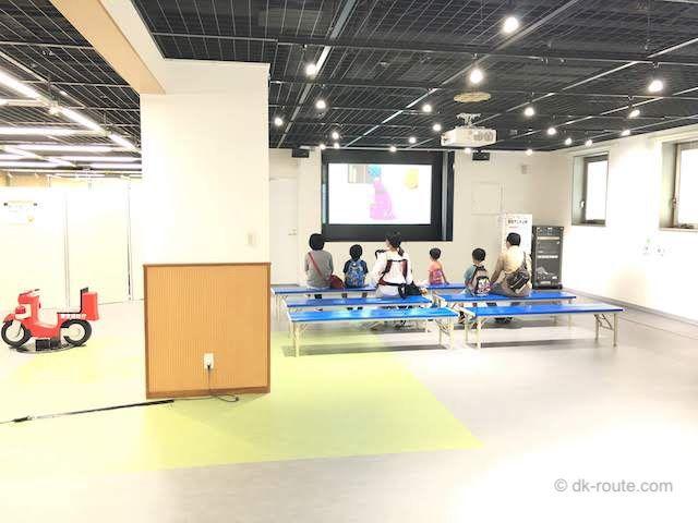 消防博物館6Fの映画視聴スペース