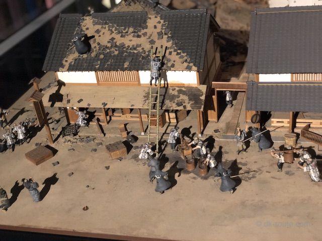 江戸時代の火消しを再現したジオラマ