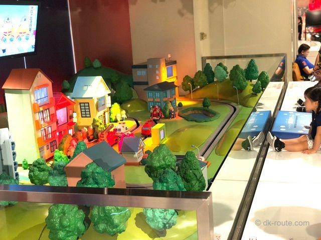 消防博物館3Fにあるショーステージ