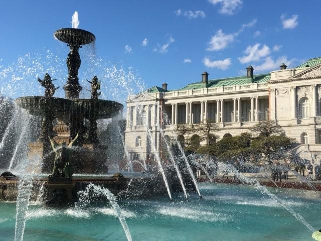 迎賓館赤坂離宮の主庭にある噴水池
