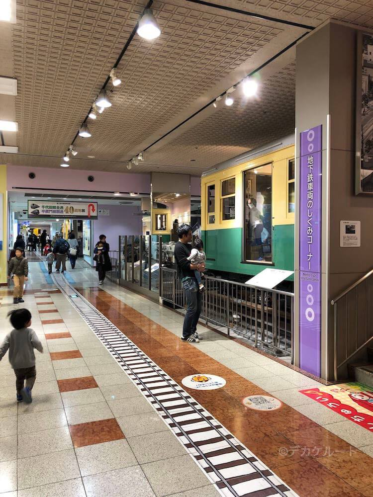 地下鉄博物館の館内イメージ