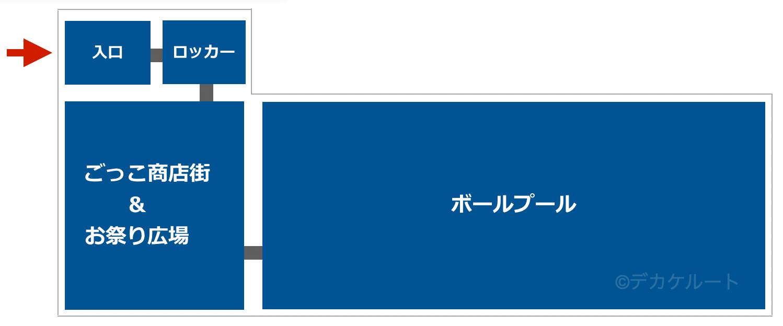 東京ソラマチ「こどもの湯」のフロアガイド図