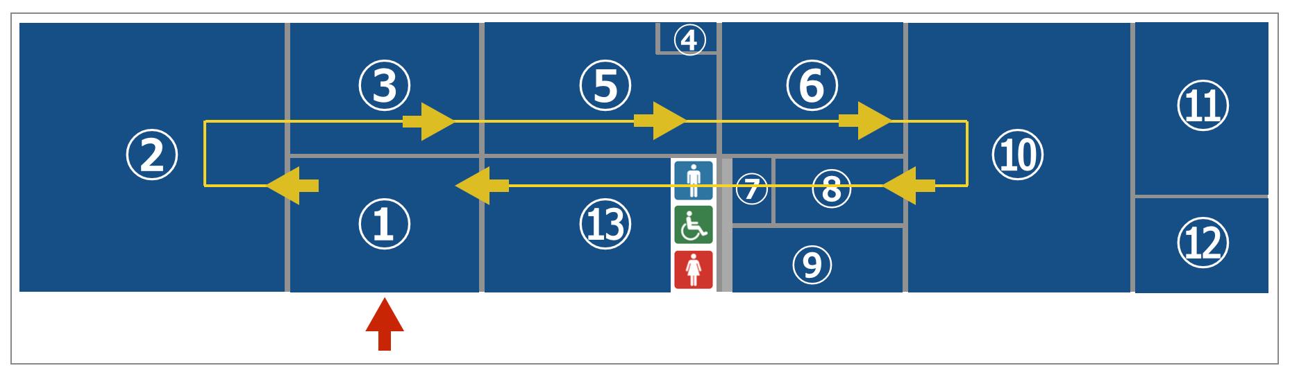 地下鉄博物館の順路イメージ