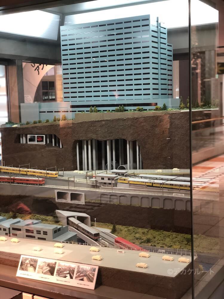 御茶ノ水駅付近のジオラマ in 地下鉄博物館