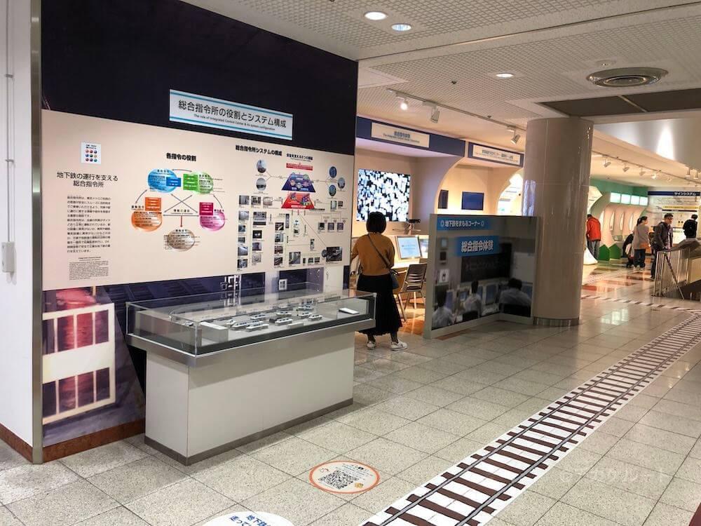 地下鉄の総合指令体験スペース in 地下鉄博物館