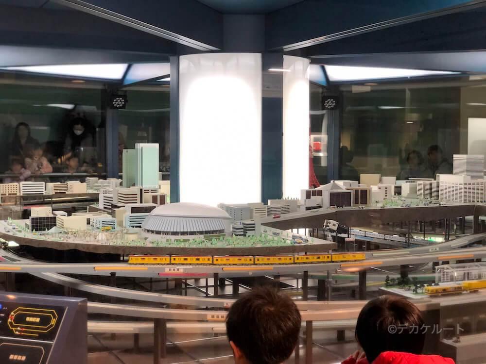 メトロパノラマの地下鉄模型による実演走行イメージ