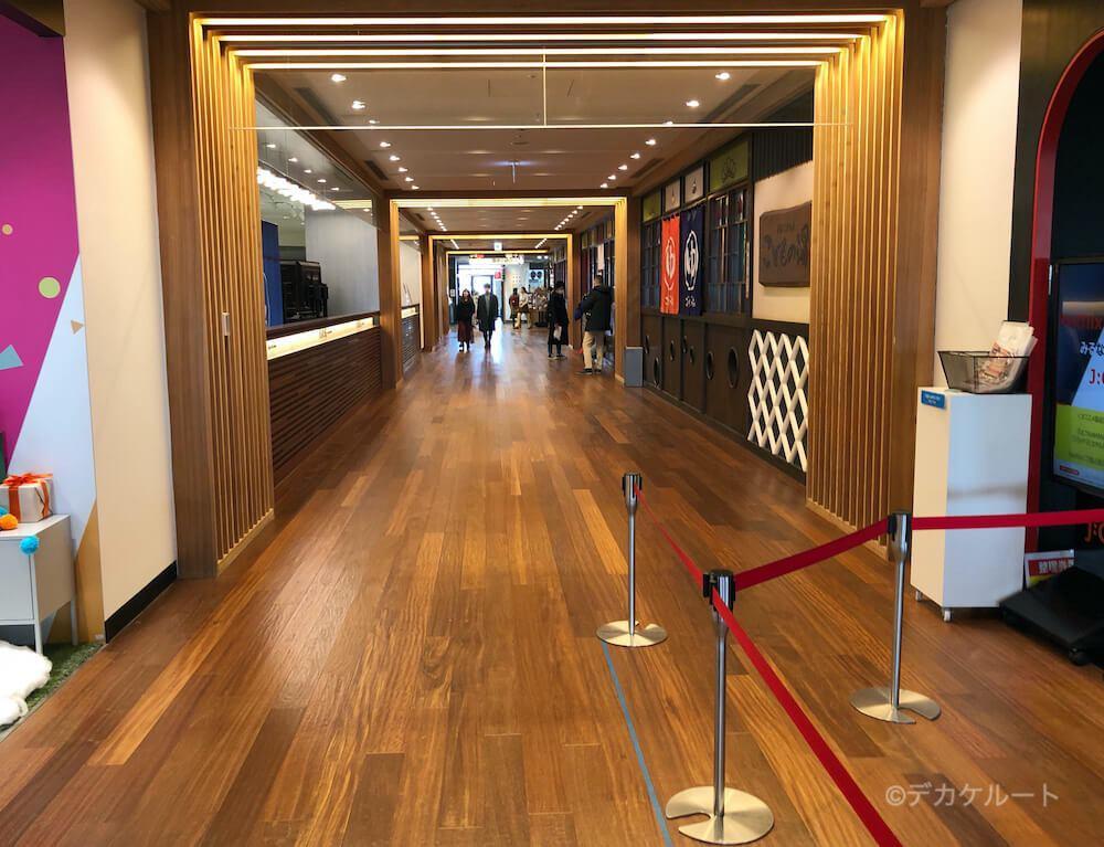 東京ソラマチ5階にあるイーストヤードの館内通路